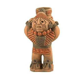 Xipe Totec Aztec Keramik Figur-Fair Trade aus Mexiko, für den Innen- und Außenbereich L11x H20cm