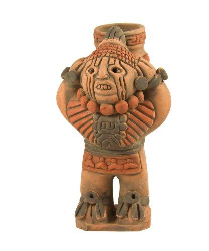 Xipe Totec Aztec Keramik Figur-Fair Trade aus Mexiko, für den Innen- und Außenbereich L11x H20cm (Figuren Aztec)