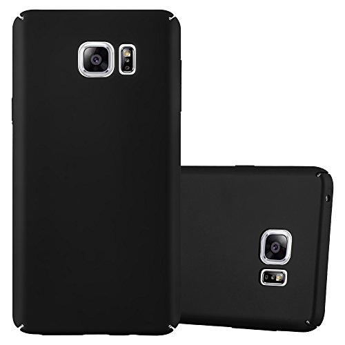 Preisvergleich Produktbild Cadorabo Hülle für Samsung Galaxy Note 5 - Hülle in Metall SCHWARZ – Hardcase Handyhülle im Matt Metal Design - Schutzhülle Bumper Back Case Cover