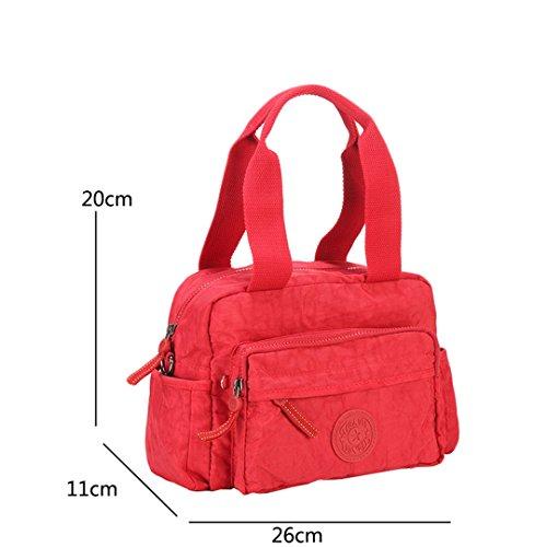 JOTHIN Hochwertige Männer und Frauen Umhängetasche lässig Tasche Messenger Bag kleine Schulranzen 26x20x11cm(L*H*W) Rot