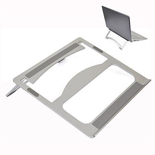 Preisvergleich Produktbild LANKER Aluminium Laptop-Ständer,  Tragbar,  Faltbar MacBook Ständer Laptop Riser für Alle Laptops bis 35, 6 cm – at04 a