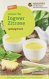 Tegut Grüner Tee Ingwer-Zitrone, 10er Pack (10 x 34 g)