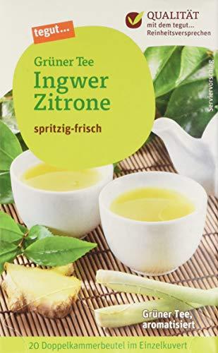 tegut... Grüner Tee Ingwer-Zitrone, 10er Pack (10 x 34 g) -