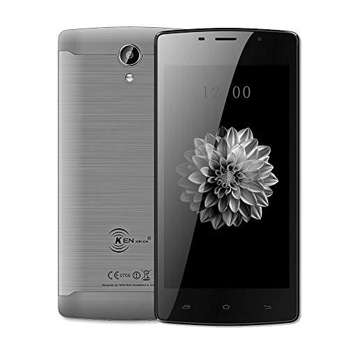 Smartphone Ohne Vertrag, KENXINDA X7 5 Zoll 1 GB + 8 GB ROM 5MP + 8MP Kameras 4G Smartphone GPS WiFi Mobiltelefon (Grau)