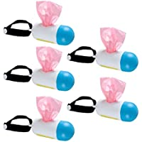 Healifty dispensador de Bolsas de Basura con Soporte para Bolsas de Caca de Perro con Bolsas de Caca Bolsas de Basura 5 Juegos (Color Aleatorio)