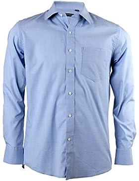 Camicia classica azzurra fil-a-fil