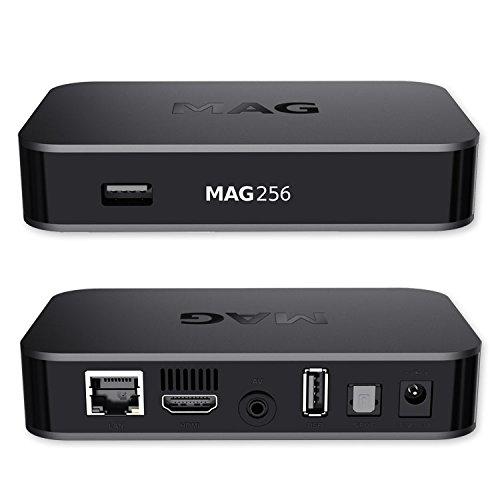 MAG 256 Original IPTV SET TOP BOX Multimedia Player Internet TV IP Receiver Mit HDMI v2.0 (HEVC H.256 fähig)