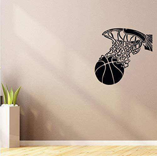 Jtxqe Kühle Basketballkorb Sport Wandaufkleber Vinyl Dekoration Dekoration Zubehör Jungen Schlafzimmer Vogue Muster Kunstwandaufkleber 42X42 Cm (En Vogue-haar-zubehör)