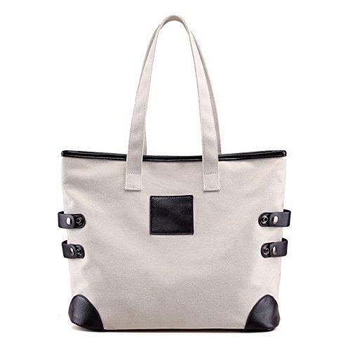 lkklily-canvas Taschen Handtasche Schulter Große Mumienschlafsack Damen Fashion, weiß Jungen Mumienschlafsack