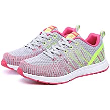 YAYADI Mujer Zapatillas Deporte Outdoor Ligera Y Transpirable Sneakers Femenino Amortiguación Entrenadores Atléticos Admite,como