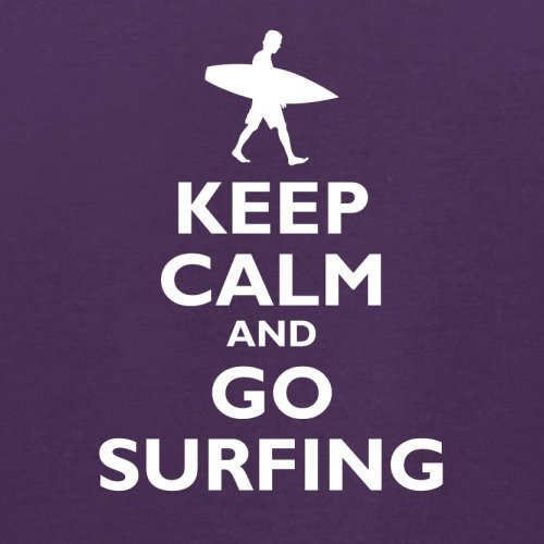 Keep Calm and Go Surfing - Herren T-Shirt - 13 Farben Lila