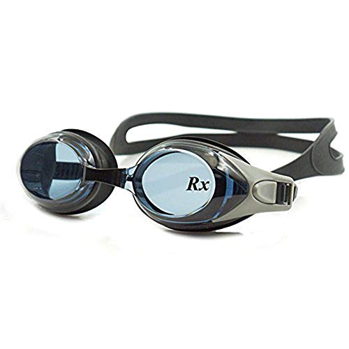 EnzoDate optische Brille Hyperopie RX + 1 bis + 8 Myopie - 1 bis-8 Erwachsene Kinder unterschiedliche Stärken für jedes Auge Schwimmen(Kraft: -6,Schwarz)