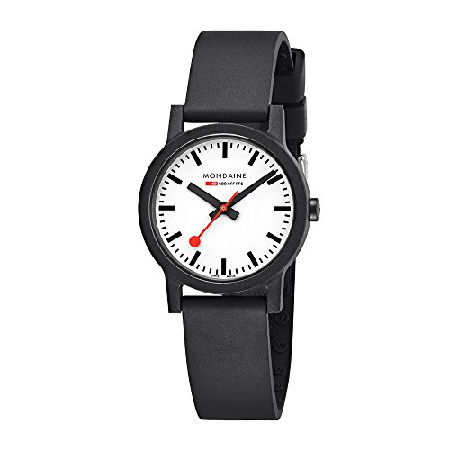Mondaine Womens Quartz Watch, Analogue Classic Display and Rubber Strap MS1.32110.RB