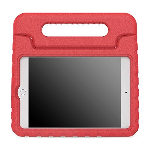 MoKo Coque Housse pour Apple iPad Mini 4 - Etui Housse EVA Enfants Antichoc Protecteur Support Convertible avec Poignée de transport pour Tablette iPad Mini 4 7.9 Pouces Modèle 2015, ROUGE