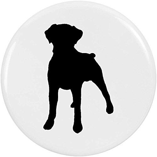 Azeeda 2 x 38mm 'Boxer Hund Silhouette' Pin Knopf-Abzeichen (BB00038737) (Boxer Hund Silhouette)