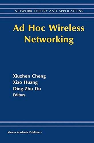 Ad Hoc Wireless Networking (Network Theory and Applications)