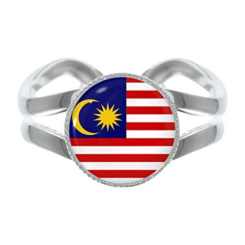 malaysian-flag-design-silver-plated-adjustable-ring
