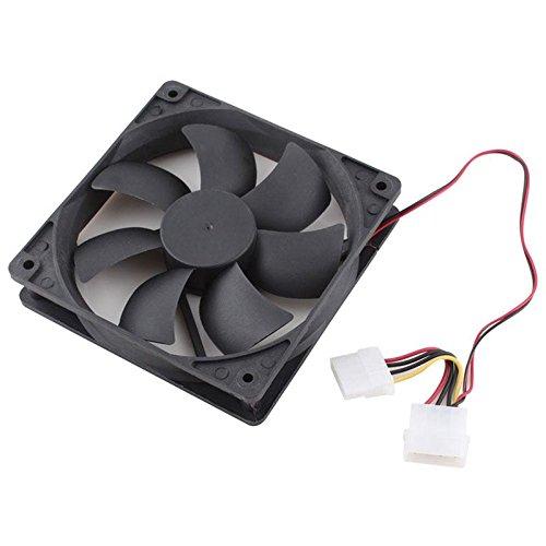 Kleine Tower-pc (calistouk 120mm Interne PC Fan-Computer Fall Kühlung für Mutter Board schwarz)