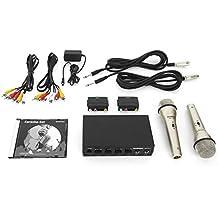 Karaoke Set para principiantes Incluye 2 micrófonos Karaoke DVD y los cables necesarios