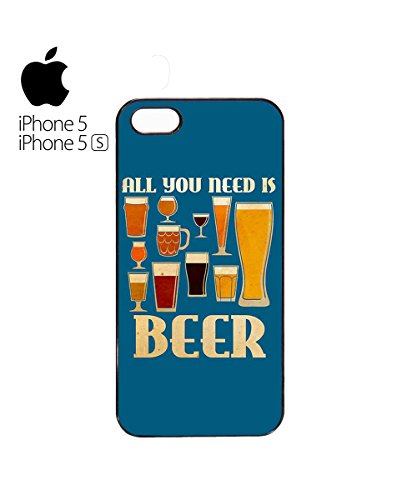 All You Need Is Beer Drink Alcohol Funny Retro Vintage Mobile Phone Case Cover iPhone 5c Black Blanc