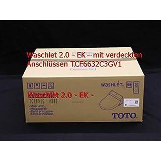 Toto Washlet EK 2.0White Toilet Seat with Auto-Close Mechanism, TCF6632°C3GV1