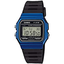 Casio Mixte Adulte Digital Quartz Montre avec Bracelet en Résine F-91WM-2AEF