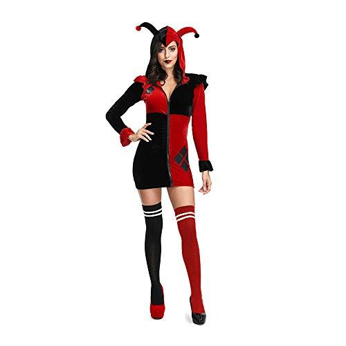 Krankenschwester Quinn Kostüm Harley - Kostüm Damen, Halloween Erwachsene Spielt Kostüm Clown Cosplay Kostüm, Harley Quinn Rock