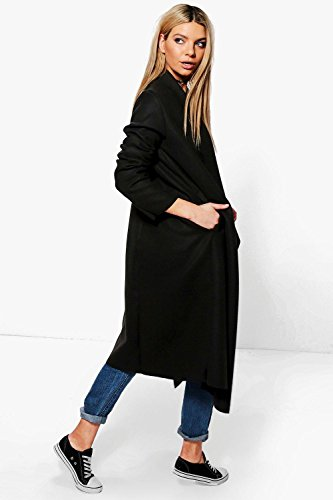 Femmes Kaki Natalia Wool Look Shawl Collar Coat Kaki