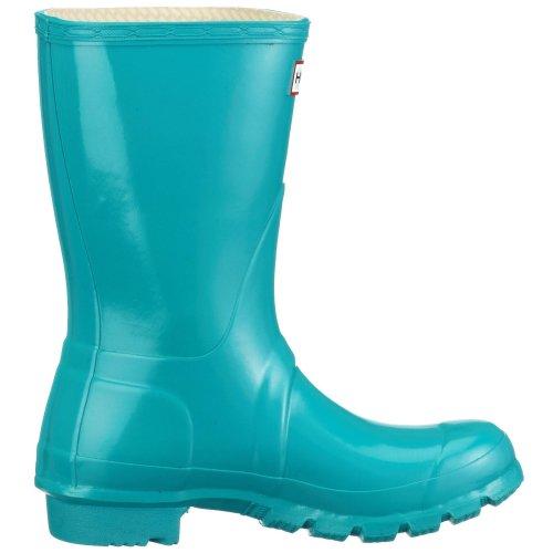 Hunter Original Short Gloss W23700 Unisex-Erwachsene Gummistiefel Blau