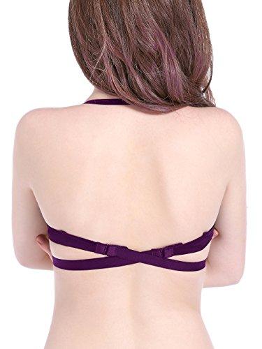 Intimate Portal Damen Umtauschbar Mehrfache Zwecke Push-Up-BH Plunge Violett