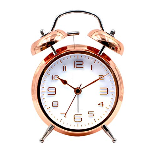 Color de Cobre Silent Alarm Clock Night Light Simple y versátil Cute...