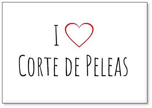 Mundus Souvenirs - Ich Liebe Corte de Peleas, Kühlschrankmagnet (Design 1) (Pelea)