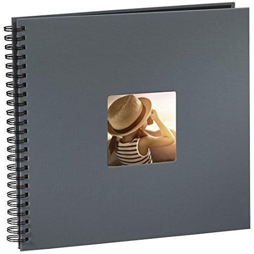 Hama Jumbo Fotoalbum, 36 x 32 cm, 50 schwarze Seiten, 25 Blatt, mit Ausschnitt für Bildeinschub,...