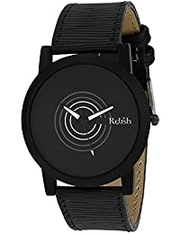 RELISH RE-S8059BB Black Slim Analog Watches For Men's And Boy's