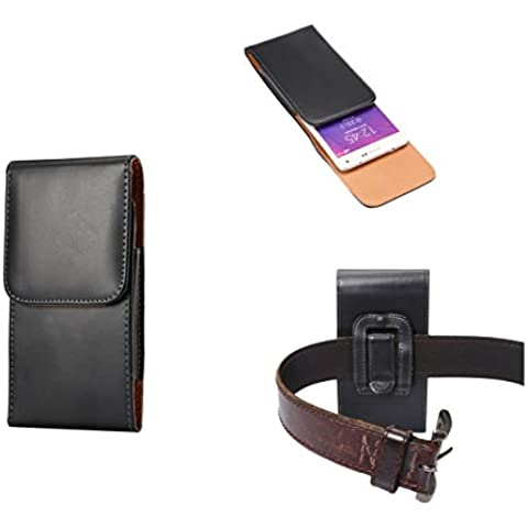 [Widamin ™] cintura in pelle Cellphone Sacchetti iPhone 4.7, Similpelle, Black, iphone6s plus Glossy