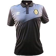 Umbro RCD Mallorca Training Poly Camiseta Polo, Hombre, Negro/Carbón, M