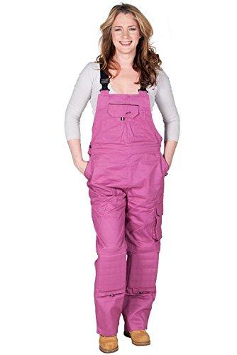 Rosies - Damen-Latzhose - Dunkelrosa Arbeits-Latzhosen Für sie jeanslatzhose