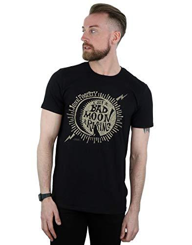 John Fogerty Herren Bad Moon Wolf T-Shirt Schwarz X-Large