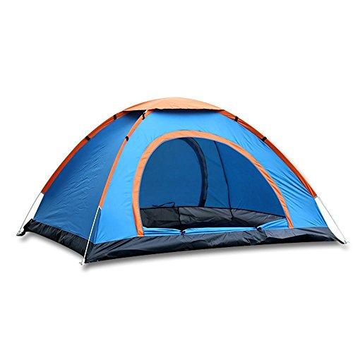 YHKQS-KQS Summer Beach Instant Tent Outdoor Camping imperméable pliable unique peau automatique pop up tente avec sac de transport 200 * 200 * 130 Cm