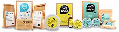 hello simple - DIY Deocreme/Creme Deodorant zum Selbermachen (150 g, 2 Stück), Naturkosmetik ohne Aluminium, vegan, bio, plastikfrei (Limette-Zypresse) - 6