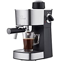 Cooks Professional Espresso Machine Barista Coffee Maker with Milk Frothing Arm & Accessories 800W