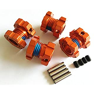 Raidenracing Aluminum Alloy Splined 17mm Wheel Hex Hub Adaptar for Traxxas 2018 New EREVO 2.0 - Orange
