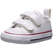Converse Chuck Taylor All Star 2V Optical White Leather Baby Trainers