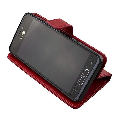 caseroxx Hülle/Tasche Doro 8035 Handy-Tasche, Wallet-Case & Flip Cover (Bookstyle-Case, rot)