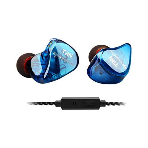 Yowablo Ear HiFi Acht-Einheiten-Ringeisen-Kopfhörer-Telefon-Subwoofer mit Mikrofon(mit Weizen) ( Blau )