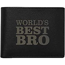 YaYa cafe Gifts for Brother, Worlds Best Bro Men's Leather Wallet for Brother