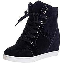 Zapatos Mujer,Las Mujeres de Moda Dedo del pie Redondo de Encaje-Botas de