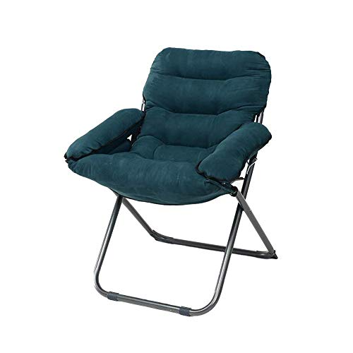 QQXX CJC Liegestühle Sofa Longue Chair Deck Chaise Folding Runde Strong Moon Rot Schwarz (Farbe: SCHWARZ) - Folding Osmanischen Schwarz