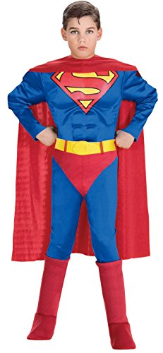 Rubie's Superman TM-Kostüm für Kinder - 8-10 - Rubies Superman Kostüm