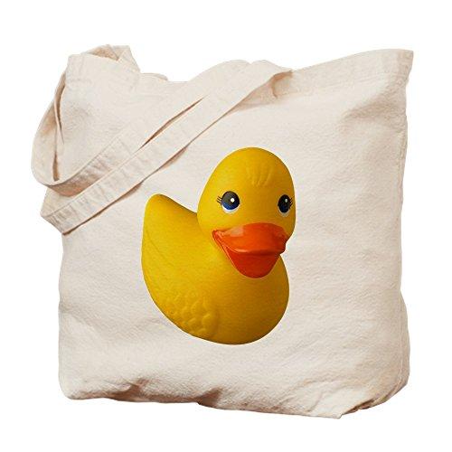 CafePress–Gummi Ducky–Leinwand Natur Tasche, Reinigungstuch Einkaufstasche Tote S khaki (Leinwand-gummi-ente)